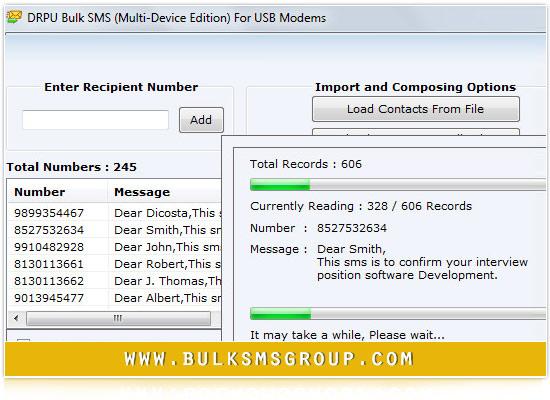 USB GSM Modem Bulk SMS
