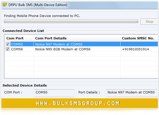 Bulk SMS Multi Mobile Phone tool send sms